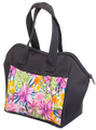6 Pocket Butterfly Garden Pattern Tote Bag