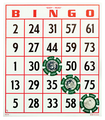 Large Print Bingo Card 25 Pack