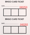 Bingo Admission Ticket 2 Part By The Case (10,000)
