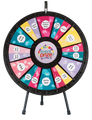 """12 to 24 Slot Adaptable Table Top Prize Wheel 31"""""""