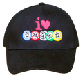 I Love Bingo Hat Black