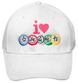 I Love Bingo Hat White