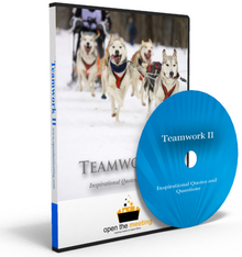 Need a video to uplift and inspire your team or organization? Teamwork II DVD is a collection of teamwork quotes and questions played to a beautiful soundtrack and stunning high resolution photos. This DVD is perfect for playing prior to a meeting, presentation or training as people are walking in.