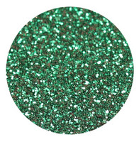 Emerald Green Glitter Vinyl Sheet