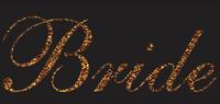 Bride Glitter Vinyl Transfer (Golden)