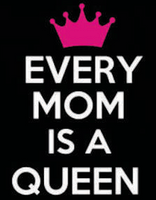 Every Mom is a Queen with crown Vinyl Transfer (White & Fuchsia)