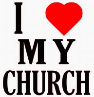 I Love my Church Vinyl Transfer (Black & Red)