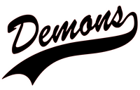 Demons Mascot Vinyl Transfer (Black)