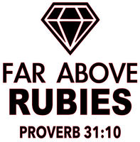 Far Above Rubies Diamond Vinyl Transfer (Black)