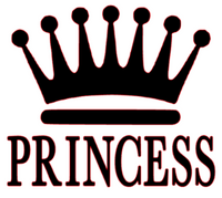 Princess Crown Vinyl Transfer (Black)