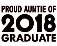 Proud Auntie of 2018 Graduate - Vinyl Transfer (Black)