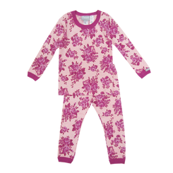 Coccoli Vintage Rose Magenta Allover Print PJ Set