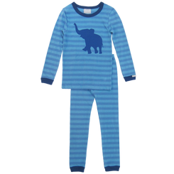 Coccoli Blue Elephant Print PJ Set