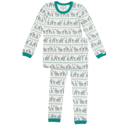 Coccoli Green Giraffe Allover Print PJ Set