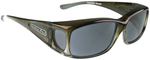 Jonathan Paul® Fitovers Eyewear Small Razor in Olive-Charcoal & Gray RZ003