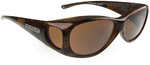 Jonathan Paul® Fitovers Eyewear Medium Lotus in Brushed-Horn & Amber LS002A