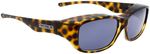 Jonathan Paul® Fitovers Eyewear Medium Queeda in Cheetah & Gray QS003