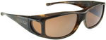 Jonathan Paul® Fitovers Eyewear Large Jett in Brown-Marble & Amber JT002A