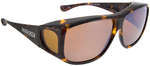 Jonathan Paul® Fitovers Eyewear X-Large Aviator in Tortoise & Amber AV002A