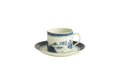 Mottahedeh Blue Canton Cup and Saucer HC149