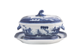 Mottahedeh Blue Canton Octagonal Soup Tureen and Stand HC93