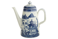 Mottahedeh Blue Canton Coffee Pot HC107