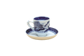 Mottahedeh Blue Canton Demitasse Cup and Saucer HC105