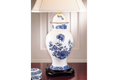 Mottahedeh Imperial Blue Ginger Jar Lamp CW2422L