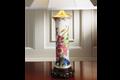 Mottahedeh Tobacco Leaf Trumpet Vase Lamp Y2360L