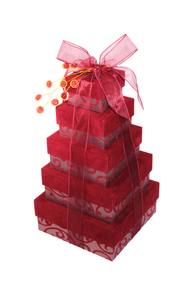 Warm Burgundy 5 Tier Tower