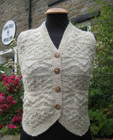 Ladies Frith Waistcoat in Natural Swaledale Wool