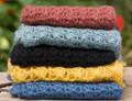Ladies Hand-crocheted scarf in Wensleydale wool.