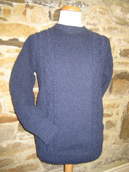 Hand knitted in navy Swaledale wool.