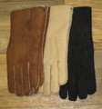 Ladies sheepskin gloves available in various colours.