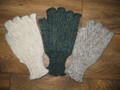 Hand-crocheted fingerless mitts in Swaledale wool.