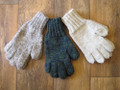 Hand-knitted gloves in Swaledale wool.