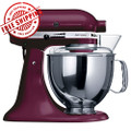 KitchenAid Artisan KSM 150 mixer This Boysenberry Kitchenaid Mixer qualifies for FREE shipping.