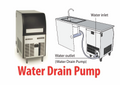 Scotsman Underbench Ice Maker with Pump Out Drain System EC56-PWD-A