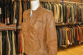 Ladies Leather Jacket Tan F1201