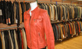 Ladies Leather Jacket Red F1201