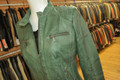 Ladies Leather Jacket Bottle Green F1201