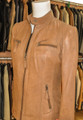 Ladies Leather Jacket Tan Celine