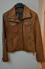 Torus Ladies Tan Leather Jacket