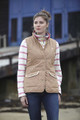 Toggi Georgia Quilt Gilet in Sienna and Navy