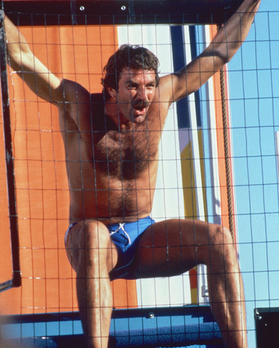 Tom Selleck Hunky Swim Shorts Candid Poster And