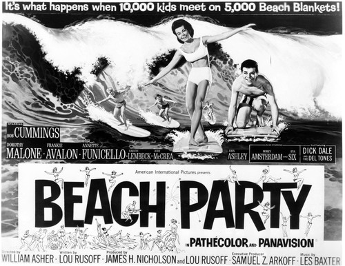 Poster Print of Beach Party