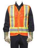 Hi-Vis Traffic Safety Vest - CSA, Class 2 - Dynamic - TSV2OG18