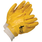 PVC Coated knitted Wrist Yellow (12PK)