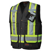 Hi-Vis Premium Surveyor Safety Vest - CSA, Class 1 - 694BK