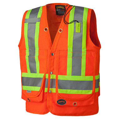 Hi-Vis Surveyor Safety Vest - CSA, Class 2 - Pioneer Startech - 6697
